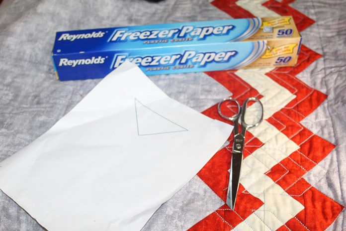 Use Freezer Paper to create your design shapes
