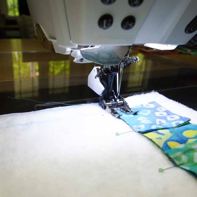 Walking foot makes sewing much easier