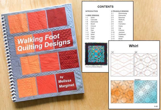 Melissa Marginet's first book, Walking Foot Quilting Designs