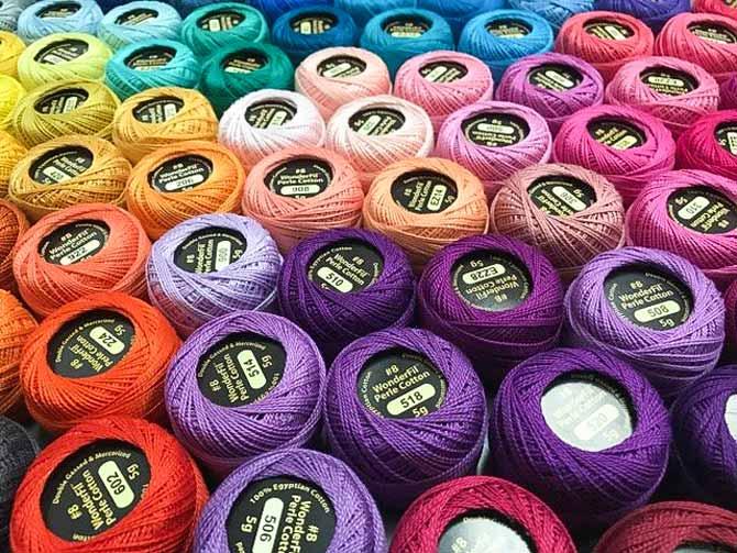 Eleganza thread in almost every delicious color under the sun.