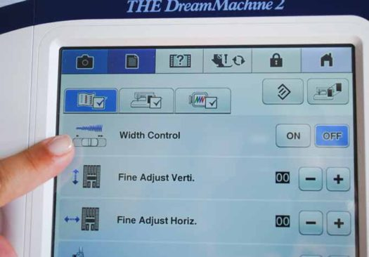 The speed control slider on THE Dream Machine 2 can be changed into a width control just by going into the settings screen.