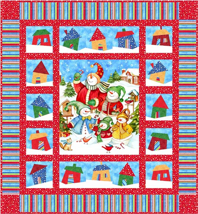 Winter Village pattern by Jean Boyd