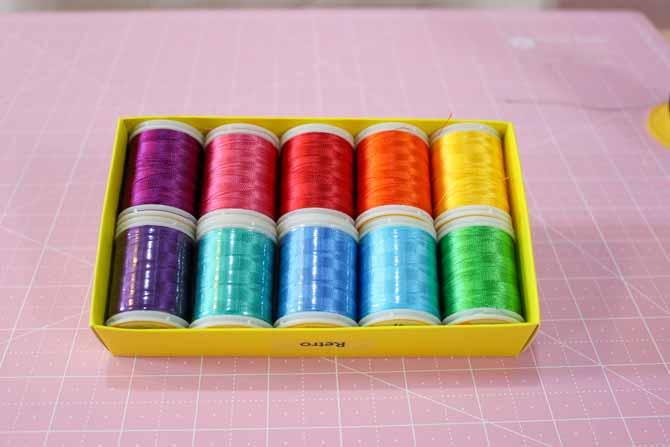 10 pack of WonderFil Splendor rayon thread