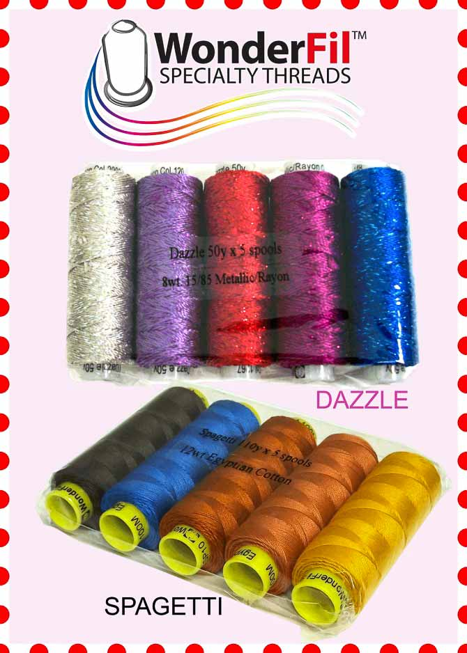 WonderFil Dazzle and Spagetti Threads