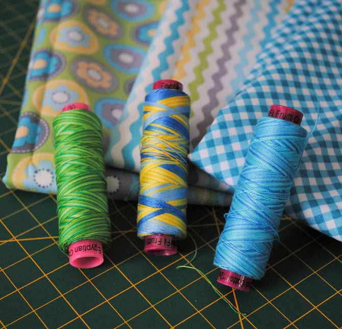 WonderFil threads to match the fabrics
