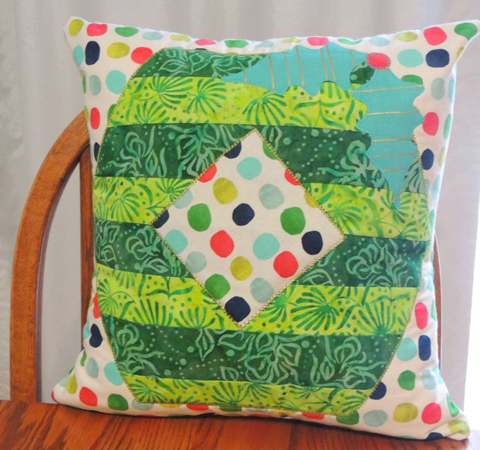 Front of the Decking the Halls Cushion Cover