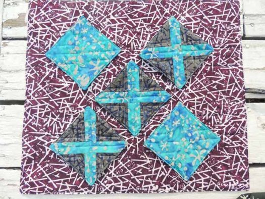Pieced X blocks