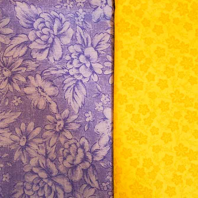 Purple & yellow complementary colors